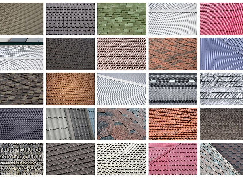 Collage Of Roof Colors And Types