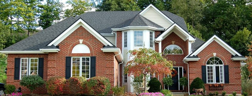 Roof Color Brick Home